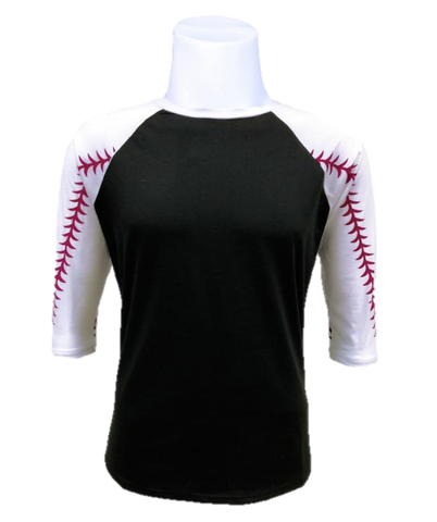 Baseball Print Raglan