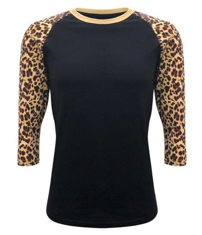 cheetah print raglan