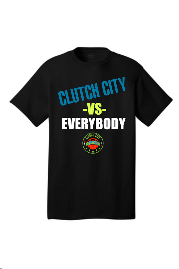 Clutch City Basketball- Clutch City vs EverybodyCotton Tee