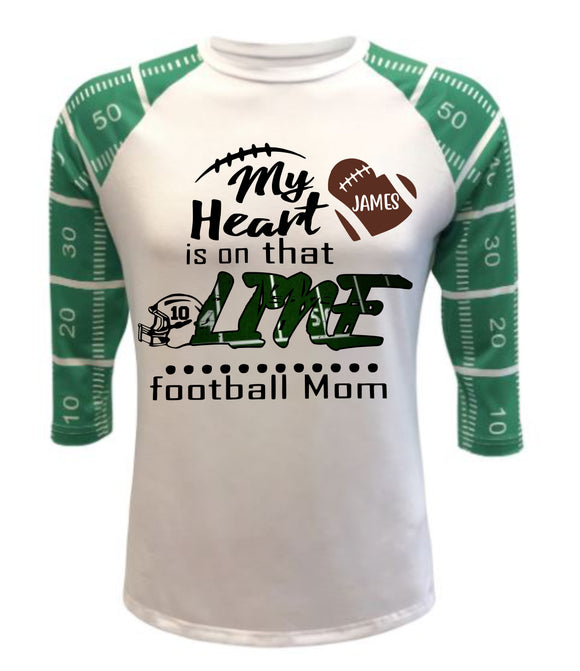 Football Field Raglan