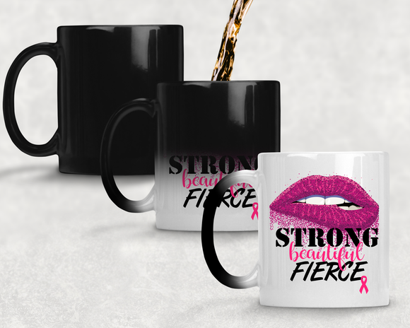 11 oz Color Changing Mug Breast Cancer Awareness