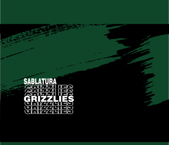 Sablatura non medical Face mask- Grizzlies Black and Green