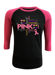 Fight Breast Cancer Pink Raglan