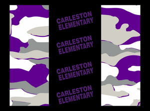 Carleston Non-medical Face mask-  Camo Purple white