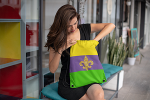Mardi Gras Drawstring Bag