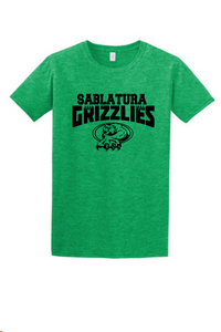 Sablatura Grizzlies- Heather Green Tee