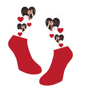 Valentines Photo Socks