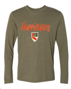Pearland Hurricanes Military Green Long Sleeve