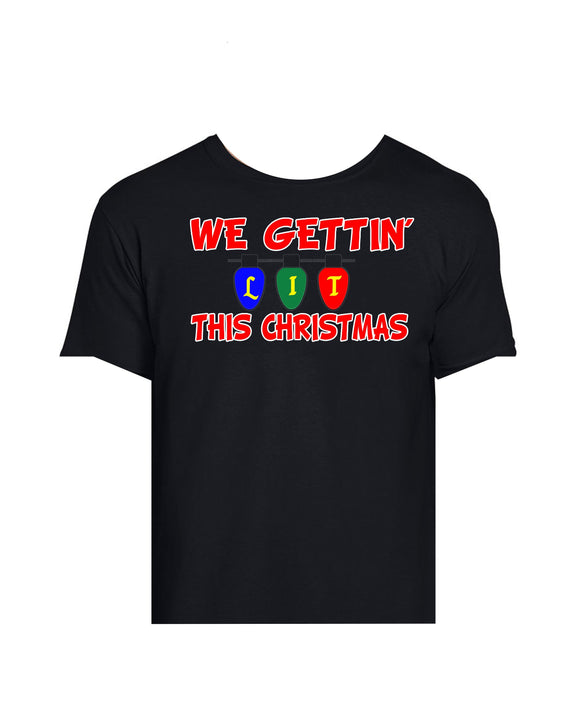 Holiday Graphic Tee-We Gettin Lit