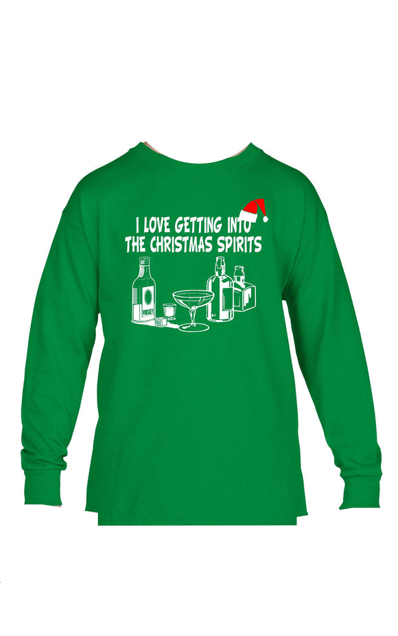 Holiday Graphic Tee- Christmas Spirits
