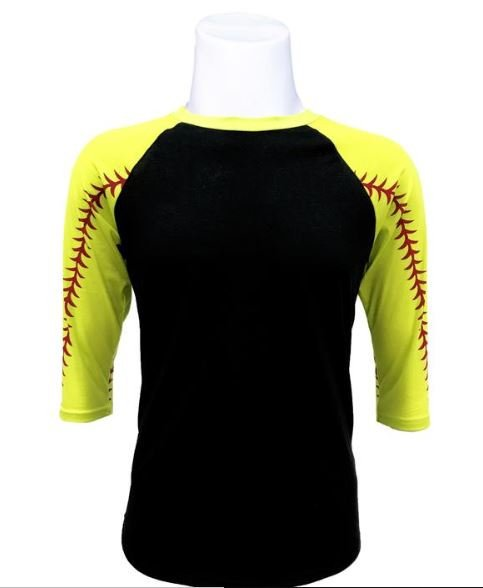 Softball  Raglan- Blank or Custom Design