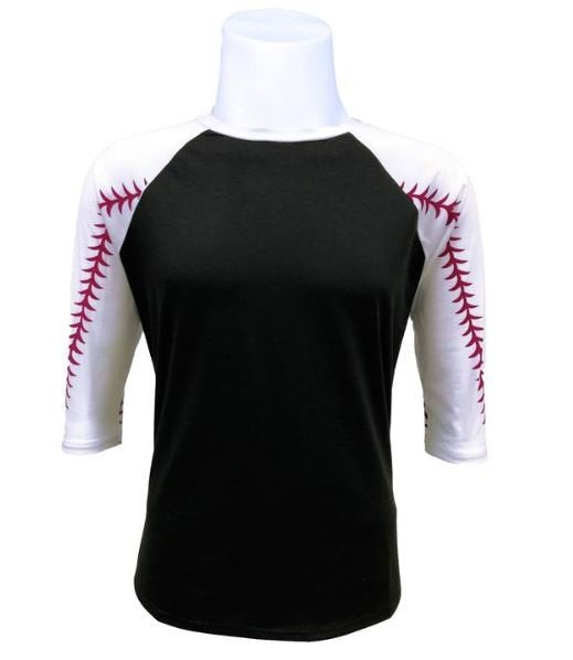 Baseball Raglan-Blank or Custom Design