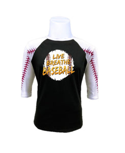 Baseball Raglan-Live Breathe Baseball