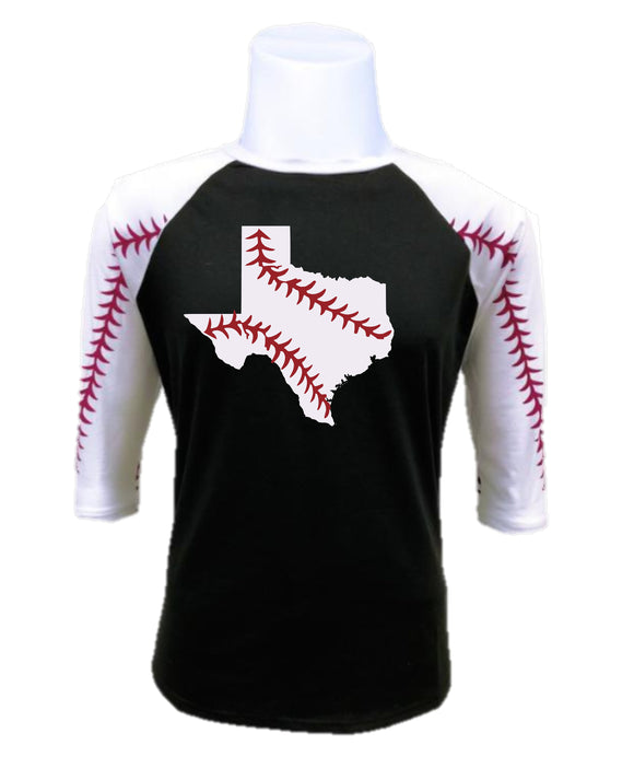 Baseball Raglan- Texas Baseball