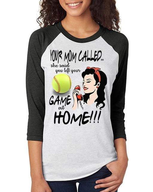 Softball Graphic Tee-  Your Mom Called