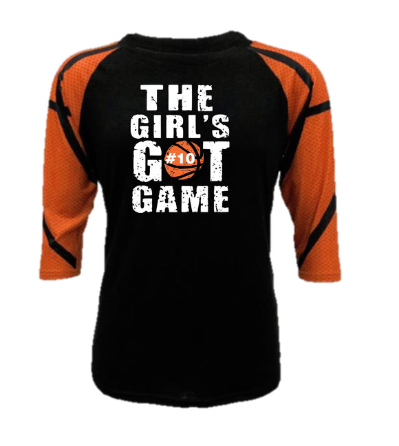 Basketball Raglan - The Girl's Got Game