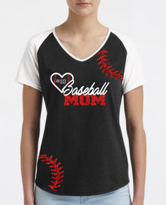 Baseball Short Sleeve Tshirt-Blank or Custom Design