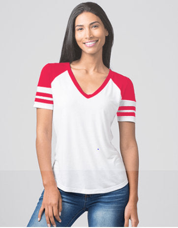 Striped Sleeve Tshirt, Football Mom, Fan Jersey