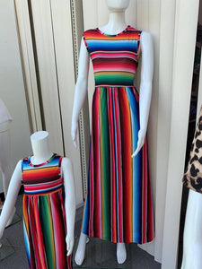 Serape Maxi Dress, Summer Dress, Sleeveless Dress, Serape
