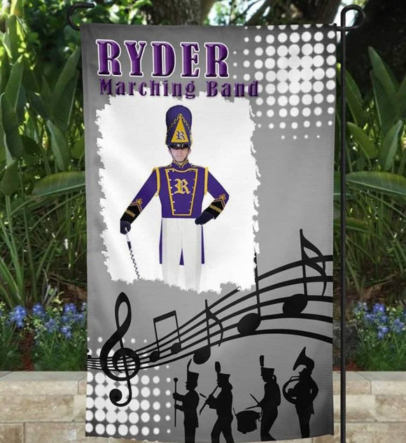 Sports Themed Garden Flag, Spirit Flag, Sports Flag, Custom Flag,Marching Band, Band Flag, Band Spirit Flag, Marching Band Spirit, Band Mom