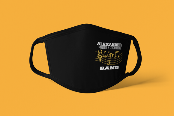 Alexander Flat Front Face Black Mask - Band