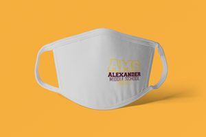 Alexander Flat Front Face Mask - Light Gray