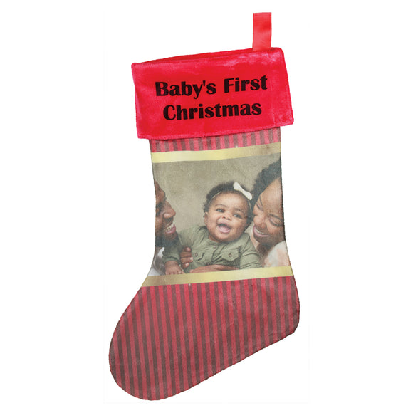 Photo Holiday Stocking