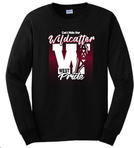 Can't Hide Our Wildcatter Pride-Black Long Sleeve