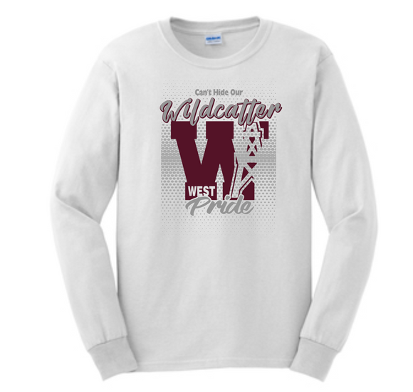 Can't Hide Our Wildcatter Pride-White Long Sleeve