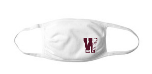 PJHW Flat Front Face Mask - White