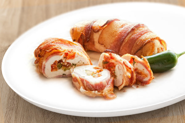 Mozzarella Stuffed Bacon Wrapped Chicken ( GF | LC | K )