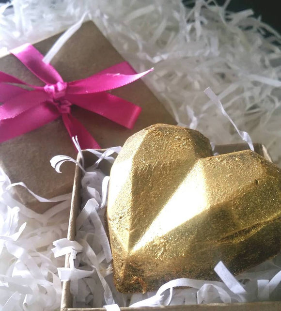 Gift-boxed Gold Dusted Heart Soap
