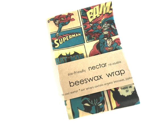 Set of THREE Beeswax Wraps for Kids