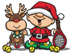 Tennis Elf Holiday Card