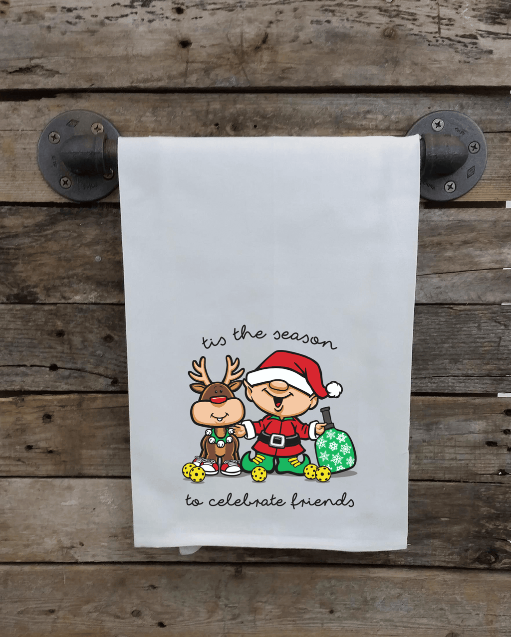 Pickleball Holiday Kitchen Towel