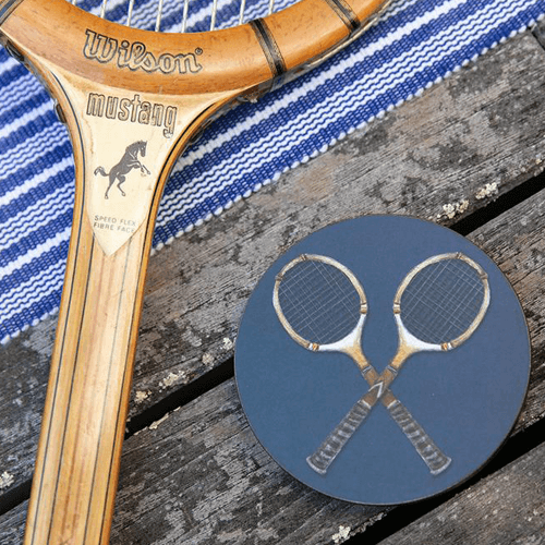 Tennis Racquet Coaster Set