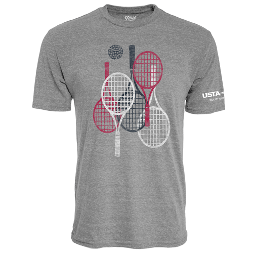 Red, White & Blue Racquets Crew Neck Tee