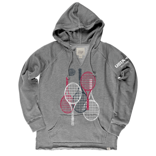 Red, White, Blue Racquets Hoodie