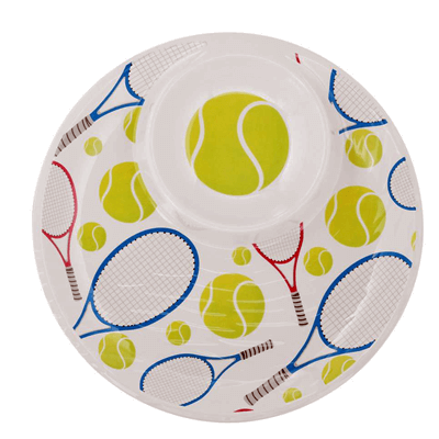 Tennis Chip-N-Dip Tray