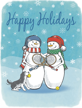 Snow Friends Holiday Card