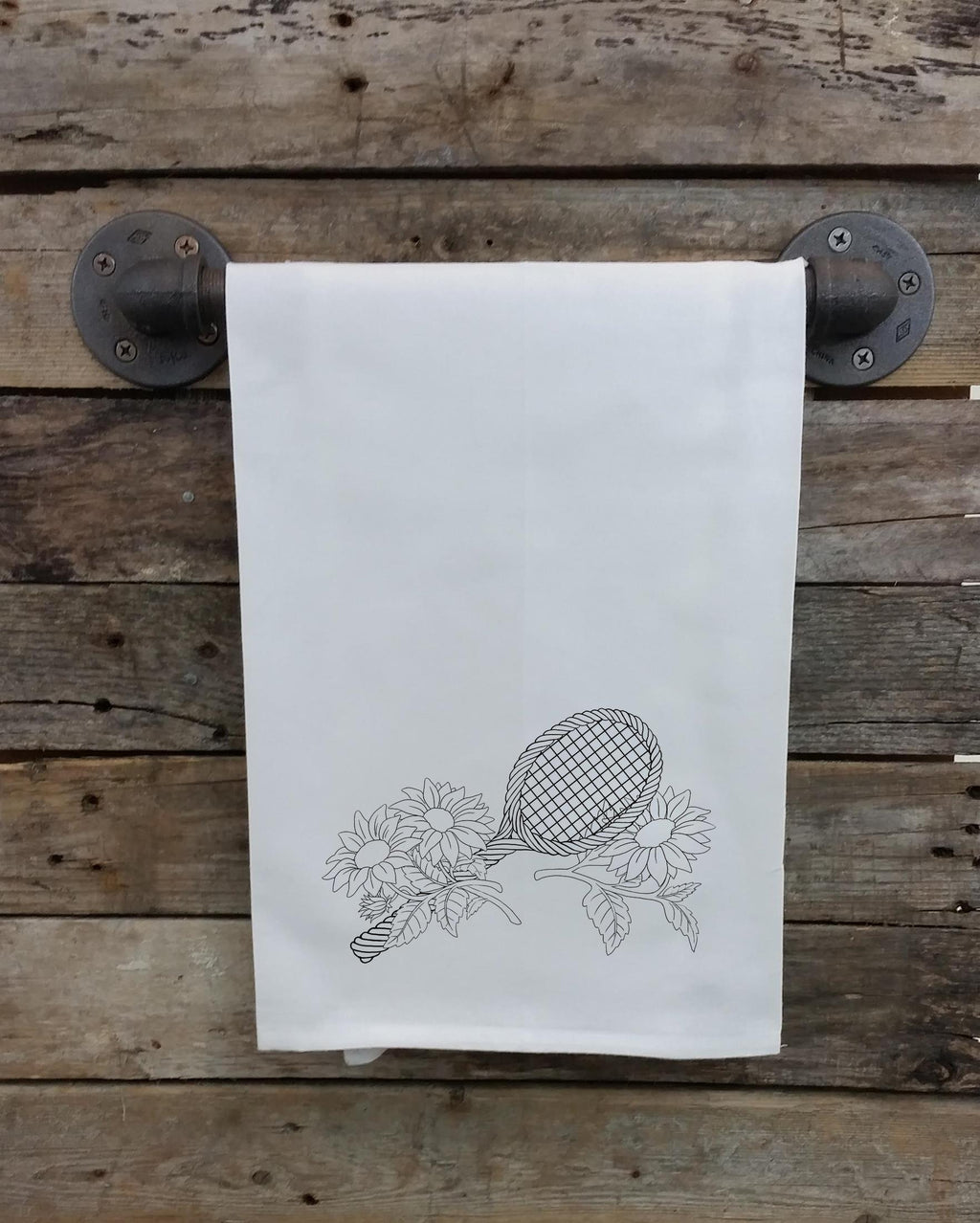 Sunflower Tennis Kitchen Towel