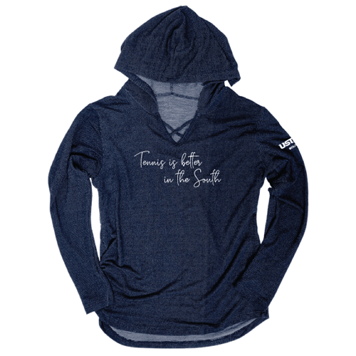 Tennis is Better Cross-Neck Hoodie