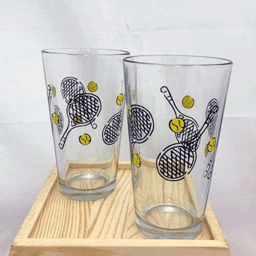 Tennis Beer Glasses
