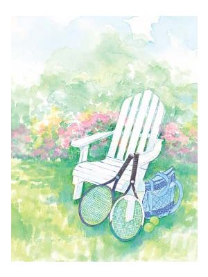 Note cards- Adirondack Chair Pastel