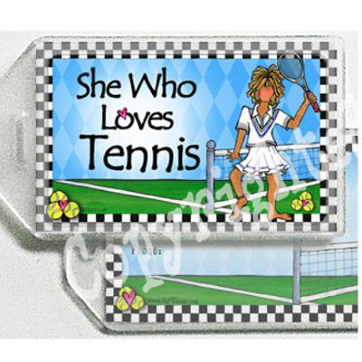 Suzy Toronto's Tennis Bag Tag