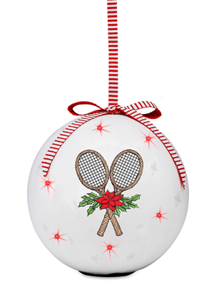 Blinking Tennis Ornament
