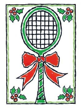 Note cards- Holiday Racquet