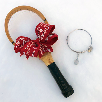 Tennis Racquet & Bangle Bracelet Gift
