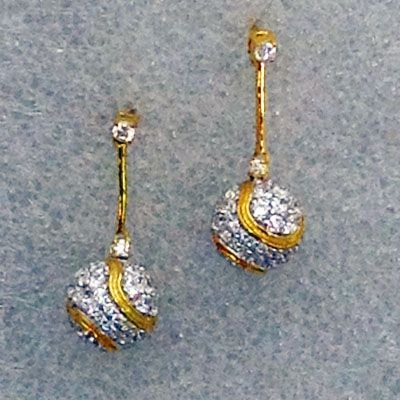 Tennis Crystal Ball Earrings