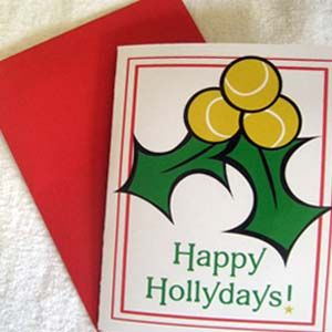Tennis Holly Cards